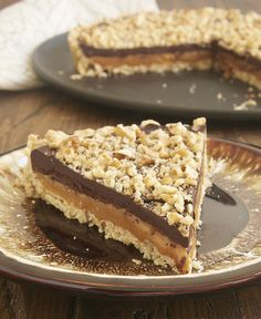 A pecan shortbread crust, a gooey layer of caramel, and a rich chocolate ganache make this Turtle Tart from Bake or Break a can't-miss dessert!