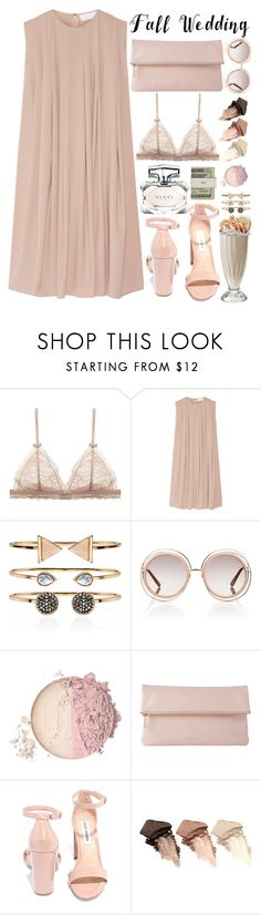 """Fall Wedding"" by aguniaaa ❤ liked on Polyvore featuring CO, Accessorize, Chloé, Whistles, Steve Madden, Urban Decay, Jack Spade, Gucci, polyvoreeditorial and polyvorecontest"