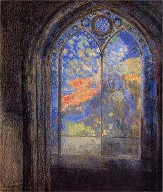 Odilon Redon - Stained Glass Window (The Mysterious Garden), 1905