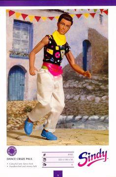 """Dance Craze"" Paul, Sindy's Boyfriend, by Hasbro, 1991"