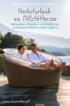 """Der Herbst ist die perfekte Kuschelsaison. Wer dafür einen außergewöhnlichen Rahmen sucht, ist am Millstätter See in Kärnten richtig. Im Süden Österreichs - mit Wandern, Radfahren, Badehaus, Wellnessbetrieben, köstlicher Kulinarik und vielem mehr. Schon vom """"Weg der Liebe"""" gehört? Hier erfährst du mehr!    #kaernten #herbsturlaub #wanderurlaub #wandertour #millstaettersee #wanderrouten #itsmylife #visitcarinthia #romantikurlaub #zweitzuzweit It's My Life, Straw Bag, Bike Rides, Hiking Trails"""