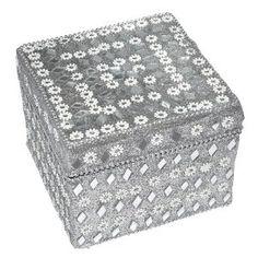 Silver Mirrored Jewelry Box in Aluminium