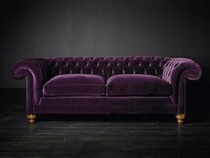 Purple Velvet Mohair Upholstery Chesterfield (@ivyinspired). Definitively dark and mysterious.
