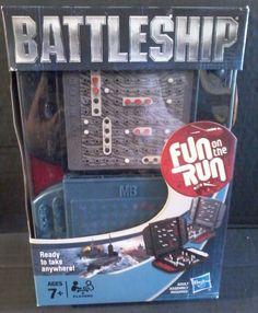 NEW HASBRO Battleship FUN ON THE RUN Travel Game Ready to Take Anywhere Pocket #Hasbro