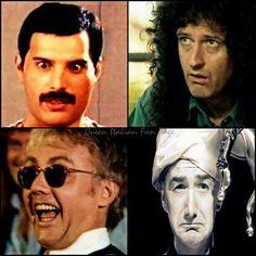 Queen's crazy faces.