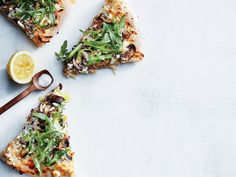 Mushroom and Arugula Pizza | Although vegetarian dishes are sometimes associated with complicated ingredients and techniques, these simple recipes are here to show otherwise. Totally veggie-friendly, and flavor packed, these easy recipes will satisfy everyone in the family, whether vegetarian or not. If you're looking for an easy-pack lunch then look no further than Spinach, Hummus, and Bell Pepper Wraps or Greek Spaghetti Squash Toss. If you're looking for a dinner to please everyone at the