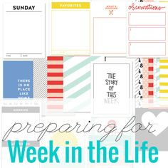 A little preparation goes a long way for Week in the Life #witl #weekinthelife #digiscrap #scrapbook