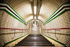 """Tube, literally - Lovely, old, London Tube station.  <a href=""""http://www.wtfoto.net/Urban-cityscapes/i-PDfL9Zd"""">Get Prints of this picture</a>"""