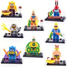 SPONGEBOB SQUAREPANTS 8 Sets/lot Mini figures TOYS Building Bricks FT lego WED