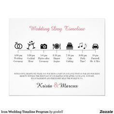 "Icon Wedding Timeline Program 4.5"" X 5.6"" Flyer"