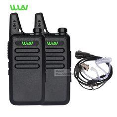 WLN Par de Walkie Talkie de Radio Portátil UHF 400-470 MHz Mini HF Transceptor de Radio de Dos Vías Radio Comunicador Para La Caza En moscú