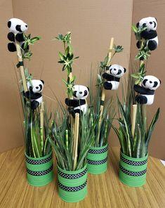 Panda Themed Party, Panda Birthday Party, Panda Party, 2nd Birthday, Birthday Parties, Panda Baby Showers, Baby Boy Shower, Panda Cakes, Baby Shower Centerpieces