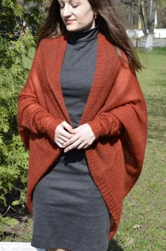 Cocoon cardigan Knitted mohair wrap Light cocoon cardigan Long wool cardigan Oversize kid mohair knitted wrap Mohair light shawl for woman Cardigan Oversize, Cocoon Cardigan, Wool Cardigan, Cowl Neck Dress, Knit Wrap, Knitwear Fashion, Classy Chic, Shawl, Cycling