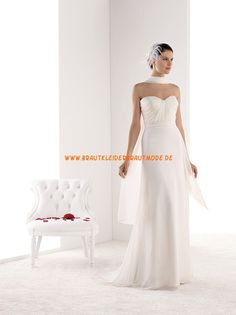 Sexy 2014 Brautkleider aus Chiffonsatin Kolumne