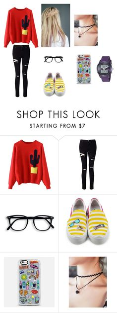 Nerdy or Needy? by kwonn on Polyvore featuring Miss Selfridge, Joshua's, GUESS and Casetify