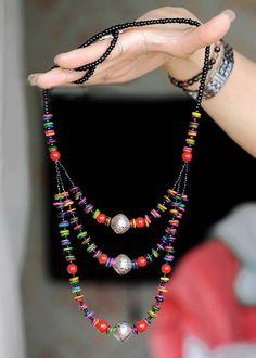 necklace necklace necklace   Tibetan silver ball sweater chain  Material: silver, color shell tablets, red coral stone  Specifications: about 41cm