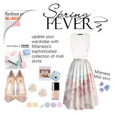 """spring fever"" by milaness on Polyvore featuring moda, Band of Outsiders, Deborah Lippmann, Chicwish, BCBGMAXAZRIA, Semilla, Sephora Collection, Cara, L'Oréal Paris ve Chanel"