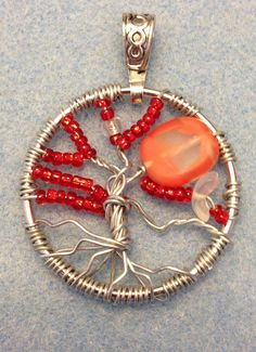 Red Tree of Life Necklace by Kendra Grimmett