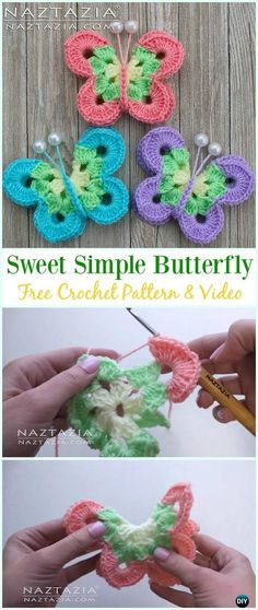 770 best Crochet Butterfly images on Pinterest in 2018 | Crochet ...