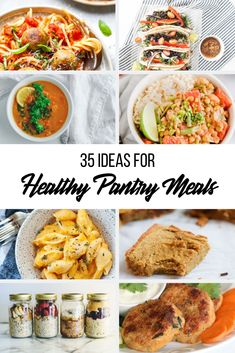 Ideas for Healthy Pantry Meals - Chelsea Dishes Cashew Recipes, Chickpea Salad Recipes, Kebab Recipes, Lentil Recipes, Healthy Meals, Healthy Recipes, Eating Healthy, Canned Tomato Recipes, Budget Meals