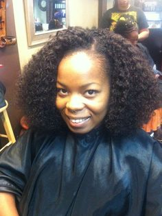 Loved This Protective Hairstyle!! Kinky Curly Sew-in