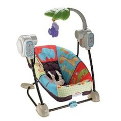 Fisher-Price Space Saver Swing and Seat-good for small spaces