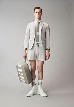 Thom Browne Resort 2018 Men's Lookbook, Designer Collection, Runway, TheImpression.com - Fashion news, runway, street style, models, accessories