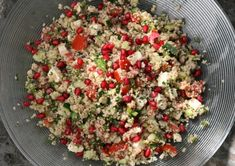 Couscous tabbouleh with feta and pomegranate