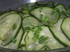 Pickled Cucumber Salad - Agurkesalat served as a side dish either for lunch or dinner.