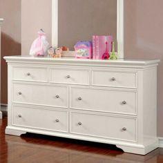 Roermond Dresser by Harriet Bee Six Drawer Dresser, Wood Dresser, Double Dresser, Metal Drawers, Dresser With Mirror, Dressers, Room Design Bedroom, Bedroom Decor, Master Bedroom