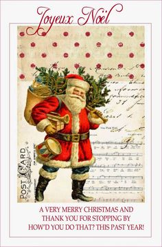 Vintage Christmas Printable ~ How'd You Do That?