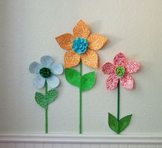3d fabric flower wall decor for girl's room