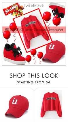 """""""red"""" by helena1990 ❤ liked on Polyvore featuring cool, red, Sweater and nicesneakers"""