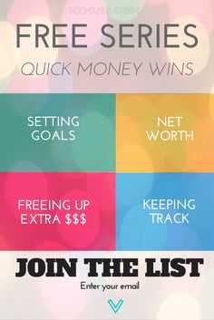 Save more money, get your money groove back and get ahead! This email series is packed with quick financial wins to help you get back on track. Sign up for the free e-course today