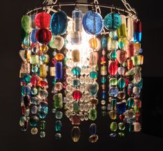 DIY lampshade of glass beads