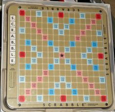 1989 Scrabble Deluxe Edition Turntable Rotating Game Board Recessed Plastic Selchow Righter $14