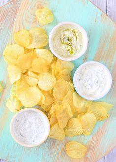 Yogurt dips - yoghurt dips - Laura's Bakery Chip Dip Recipes, Snack Recipes, Cooking Recipes, Savory Snacks, Party Snacks, I Love Food, Tapas, Bakery, Favorite Recipes