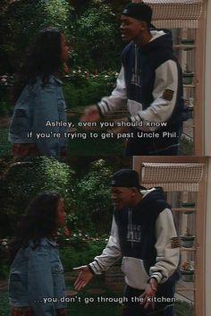 Fresh prince of bel air - Thats where he spends most of his time...