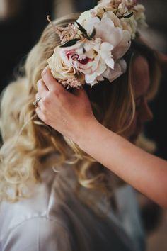 Flower crown by Flowers By Mae Mae