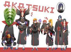 Zetsu and Obito. The Zombie Duo; Hidan and Kakuzu. Pein and Konan. Sasori and Deidara. I have no idea what to call Itachi and Kisame. and the defector Orochimaru Itachi Uchiha, Sasunaru, Naruto Shippuden, Sasori And Deidara, Hidan And Kakuzu, Deidara Akatsuki, Naruto Y Boruto, Kakashi, Anime Naruto