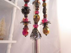 Fabulous Victorian Style Bead Dangle by LaReineDesCharmes on Etsy