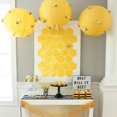 What will it BEE? This gender reveal party from @weheartparties is just the sweetest way to find out what you're having. Click the link to see, is it a boy or a girl? #genderrevealparty #genderrevealideas #partyideas #orientaltrading Bee Gender Reveal, Baby Gender Reveal Party, Gender Party, Bee Theme, Reveal Parties, Baby Shower Themes, Shower Ideas, New Baby Products, Babyshower