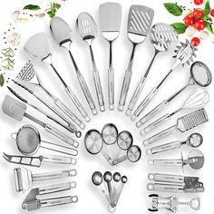 Kitchen Spatula, Kitchen Utensil Set, Kitchen Dining, Kitchen Ware, Stainless Steel Utensils, Stainless Steel Kitchen, Cooking Utensils Set, Cooking Tools, Cooking Gadgets
