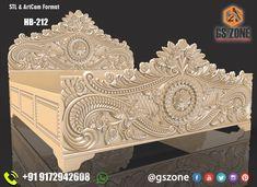 Box Bed Design, Bedroom Bed Design, Bedroom Furniture Design, Wood Carving Designs, Wood Carving Patterns, Wood Carving Art, Wooden Temple For Home, Bed Designs With Storage, Carved Beds