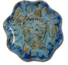 "Bowl with Hawaiian Sea Turtle 2""×13"" B46"