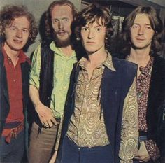 Blind Faith = Eric Clapton, Steve Winwood, Ginger Baker & Ric Grech (ie. right to left in pic)
