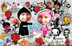 Photo of TokiDoki for fans of Kawaii 995515 Kawaii Halloween, Halloween 2014, Hello Kitty Iphone Wallpaper, Monster Tattoo, Grim Reaper Tattoo, Kawaii Chibi, Glitter Graphics, Creepy Cute, Italian Artist