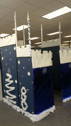 office decor for christmas. winter wonderland castle cubicle office decor for christmas c