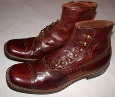 1920's Men's Button Boots.