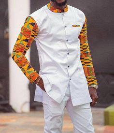 Tunde African men's suit// men's clothing, African dashiki, … – Shirt Types African Shirts For Men, African Dresses Men, African Attire For Men, African Clothing For Men, African Wear, African Style, Ghana Clothing, Women's Clothing, Traditional African Clothing
